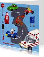 Kinderkaarten - Hoera 3 Jaar by Cartita Design