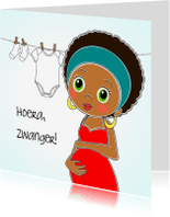 Felicitatiekaarten - Hoera er is een baby onderweg
