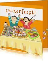 Religie kaarten - Hoera het is suikerfeest!