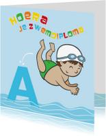 Geslaagd kaarten - Hoera! je zwemdiploma A