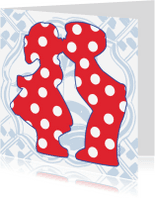 Vakantiekaarten - Holland kussend paar