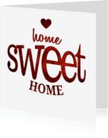 Verhuiskaarten - Home sweet home rood