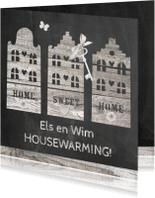 Uitnodigingen - housewarming houten huisjes
