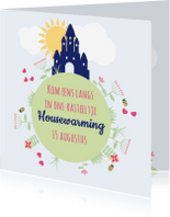 Verhuiskaarten - Housewarming kasteel 1