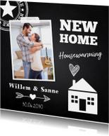 Uitnodigingen - Housewarming krijtbord foto