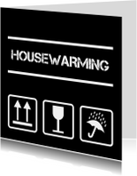Uitnodigingen - Housewarming pictogrammen zwart