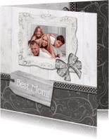 Moederdag kaarten - Hout met Label Best Mom! - BK