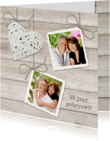 Jubileumkaarten - Hout Riet Hart Foto