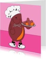 Wenskaarten divers - Humor, blije aardappel!