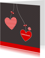 Felicitatiekaarten - Huwelijk harten 1