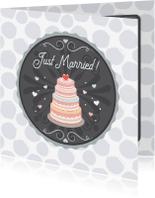 Felicitatiekaarten - Huwelijk taart - Tirzaworld