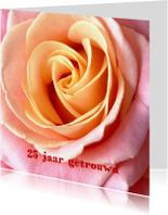 Felicitatiekaarten - Huwelijksjubileum 25 jaar roos