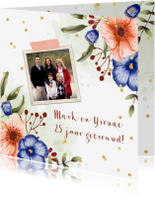 Jubileumkaarten - Huwelijksjubileum bloemen eucalyptus foto's