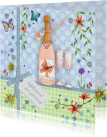 Felicitatiekaarten - huwelijksjubileum champagne