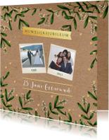 Jubileumkaarten - Huwelijksjubileum eucalyptus kraftlook foto's