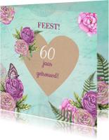 Jubileumkaarten - huwelijksjubileum hart rozen