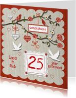 Felicitatiekaarten - Huwelijksjubileum met leuke tak