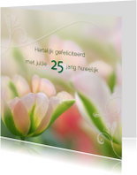 Felicitatiekaarten - Huwelijksjubileum met tulpen
