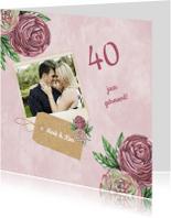 Jubileumkaarten - huwelijksjubileum ranonkel