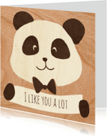 Zomaar kaarten - I like you a lot panda