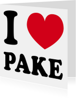 Fryske kaartsjes - I love Pake