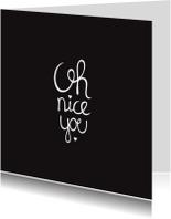 Valentijnskaarten - I love you zwart kaart valentijn