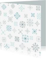 Kerstkaarten - IJsbloemen patroon