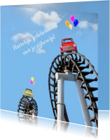Geslaagd kaarten - In de wolken met rijbewijs