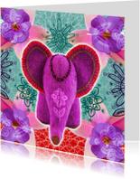 Dierenkaarten - Indiaas olifantje