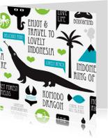 Vakantiekaarten - Indonesie reizen illustratie kaart