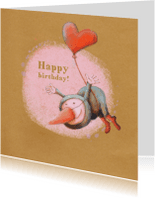 Verjaardagskaarten - Jarig - Birdman Vlieg - MW
