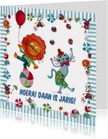 Kinderkaarten - Jarig Circus Leeuw Cartita Design