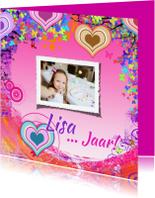 Verjaardagskaarten - Jarig harten zelf invullen c