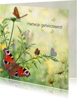 Verjaardagskaarten - Jarig met vlinders