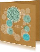 Verjaardagskaarten - Jarig - Papierenbloemen - MW