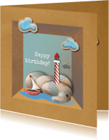 Verjaardagskaarten - Jarig - Vuurtoren - MW
