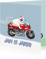 Verjaardagskaarten - Jarige motorrijder