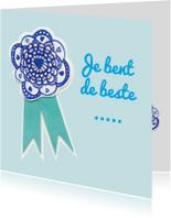 Vaderdag kaarten - Je bent de beste... blauw