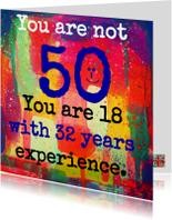 Verjaardagskaarten - Je bent geen vijftig
