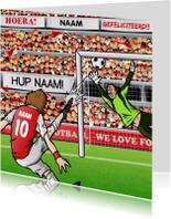 Verjaardagskaarten - JIJ SCOORT DE GOAL - voetbal kaart