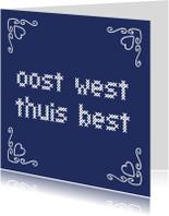 Felicitatiekaarten - JIppieJippie een nieuwe woning 013 blauw