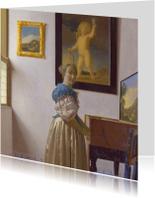 Kunstkaarten - Johannes Vermeer. Jonge vrouw bij een virginaal
