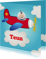 Geboortekaartjes - Jongen vliegtuig