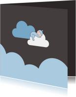 Rouwkaarten - Jongetje op wolk