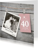 Jubileumkaarten - Jubileum 40 jaar hout