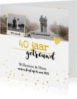 Jubileumkaarten - Jubileum - 40 jaar samen feestje foto