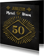 Jubileumkaarten - Jubileum 50 goud krijt - SG