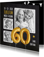 Jubileumkaarten - Jubileum 60 jaar ballon SG