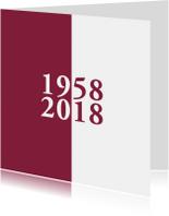 Jubileumkaarten - jubileum 60 jaar getrouwd