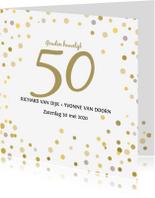 Jubileumkaarten - Jubileum confetti goud av